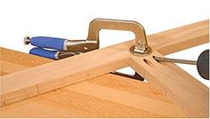 Kreg KHC-PREMIUM Face Clamp Kreg face clamps provide a quick, easy way to hold rails and stiles in place while installing pocket-hole screws. Woodworking Jig Plans, Woodworking Jigsaw, Woodworking Hand Tools, Woodworking For Kids, Woodworking Projects That Sell, Woodworking Workshop, Woodworking Shop, Woodworking Magazine, Home