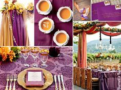 Amazing colour combo for keeping the purple I love and  burnt orange for that touch of fall :)