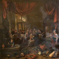 Jan Steen - Jezus in het huis van Martha en Maria