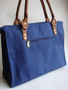 Bolsa Sacola Horizontal - Azul