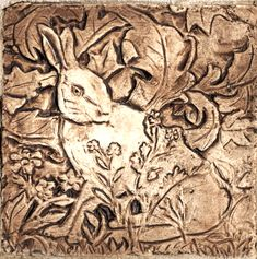 Image result for rabbit painting William Morris Wallpaper, Morris Wallpapers, Applique Designs, Art Google, Line Art, Rabbit, Lion Sculpture, Statue, Plaster