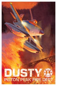 World-famous racer Dusty Crophopper joins the Aerial Fire Fighters to help protect Piston Peak. Get to know Dusty in Disney's Planes: Fire & Rescue, soaring into theaters in ONE WEEK.