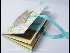 ▶ 1 Sheet 12x12 Mini Album/Brag Book with pockets and tags - Stampin' Up! - YouTube