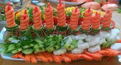 vegetable menorah for Hanukkah by Milana Vegetable Menorah Centerpiece for HanukkahMake the season sparkle with these 4 Hanukkah menorah crafts – CenterpieceChristmas Tree CenterpieceCurry Vegetable Latkes – Holiday RecipeVegetable LatkesTortilla Roll Ups Jewish Hanukkah, Hanukkah Crafts, Hanukkah Food, Christmas Hanukkah, Hannukah, Xmas, Christmas Vegetable Recipes, Holiday Recipes, Holiday Foods