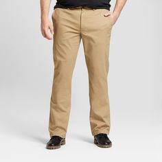 Men's Big & Tall Straight Fit Hennepin Chino Pants - Goodfellow & Co Tan 44x34