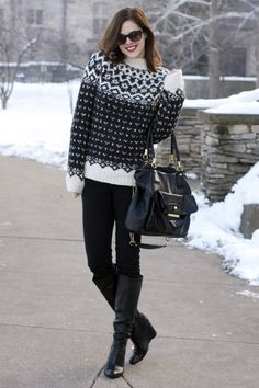 Winter Outfit, Jessica Quirk, What I Wore blog, What I Wore Jessica, What I Wore Today, Lopapeysa sweater, Fairisle sweater, How to look cut...