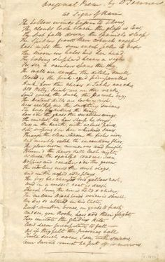 """Edward Jenner signed copy of his poem titled """"40 Signs of Rain."""" The poem was slightly different every time he wrote it out and even exists under varying titles."""