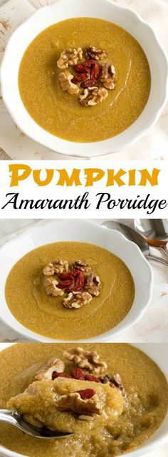 Pumpkin Amaranth Porridge | Healthy and delicious warm vegan breakfast made with…