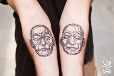 """inspirado en el artista Suso33 Cisco hizo estos dos tatuajes""  LTW tattoo studio, barcelona"
