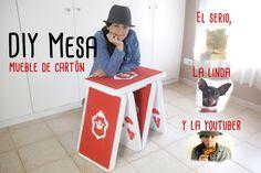 Mueble de cartón Mesa | cartas poker gigantes grandes | manualidad DIY f...