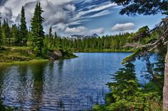 High Mountain Lake by Mike Thompson