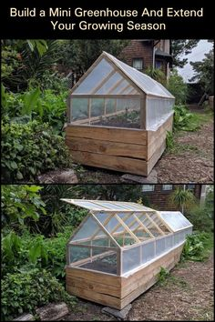 Extend Your Growing Season by Building This Mini Greenhouse! Extend Your Growing Season by Building This Mini Greenhouse! The post Extend Your Growing Season by Building This Mini Greenhouse! Backyard Greenhouse, Small Greenhouse, Greenhouse Plans, Greenhouse Film, Greenhouse Wedding, Greenhouse Growing, Homemade Greenhouse, Portable Greenhouse, Growing Plants