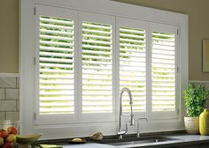 over the sink kitchen window shutters - Google Search
