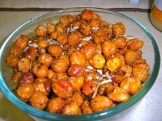 roasted chickpeas w/rosemary - get the recipe here: http://holisticstyleandwellness.com/2011/05/16/roasted-chickpeas-with-rosemary/