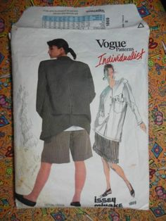 Vintage Vogue Issey Miyake Pattern 1869 Sz 8