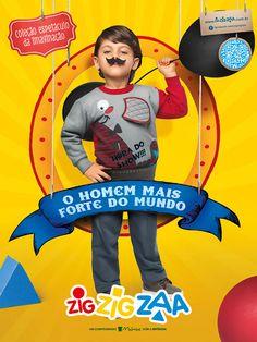 Campanha Zig Zig Zaa - Espetáculo da Imaginação on Behance Children Advertising, Creative Advertising, Advertising Design, Zig Zig, Kids Graphics, Logo Gallery, Magazine Layout Design, Kids Poster, Magazines For Kids