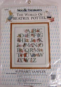 Needle Treasures Cross Stitch Kit THE WORLD OF BEATRIX POTTER ALPHABET SAMPLER  #NeedleTreasures #Sampler