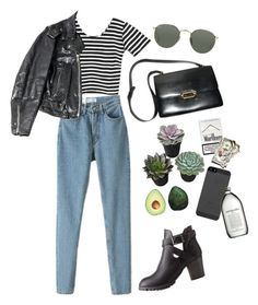 """""""lunch"""" by bl-u ❤ liked on Polyvore featuring Charlotte Russe, Hermès and Ray-Ban"""