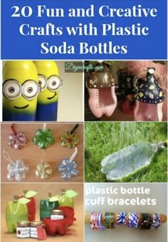 20 Fun & Creative Crafts With Plastic Bottles...http://homestead-and-survival.com/20-fun-creative-crafts-with-plastic-bottles/