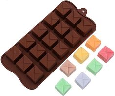 ALVA Chocolate soap molds baking 15 even stepped lattice model 5pcsno.CM70 ** Tried it! Love it! Click the image. : Candy Making Supplies
