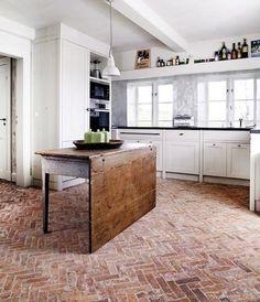 How To Install A Thin Brick Floor Cedar Lane Farmhouse Laundry