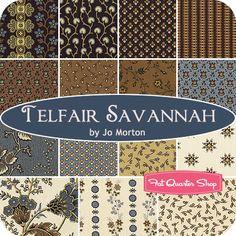 Telfair Savannah Fat Quarter Bundle Jo Morton for Andover Fabrics - Fat Quarter Shop