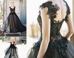 Prom Dresses 2017, Tulle Prom Dress, Black Wedding Dresses, Prom Party Dresses, Ball Dresses, Ball Gowns, Tulle Lace, Wedding Black, Inexpensive Prom Dresses