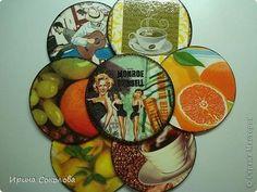 Podkładki pod kubek z płyt CD   Kreatywne tworzenie