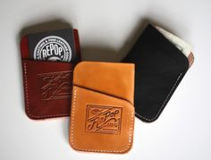 REPOPMFG — Hand Made Leather Card Wallet ) - Svpply