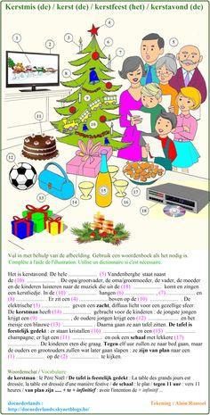 Woordenschatoefening : Kerstmis / Exercice de vocabulaire : La Noël + OPLOSSINGEN / SOLUTIONS : http://docnederlands.skynetblogs.be/archive/2015/12/07/exercice-de-vocabulaire-kerstmis-kerst-kerstfeest-kerstavond-8538798.html