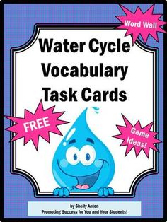 FREE Science Center Water Cycle Vocabulary Task Cards Teacher Printables Activities Envrionment From Promoting Success On