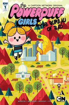Powerpuff Girls Issue 1 Cover for IDW Publishing, Andrew Kolb