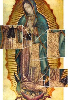 the blk sash represents she was with child. Our Lady of Guadalupe Blessed Mother Mary, Blessed Virgin Mary, Catholic Religion, Catholic Saints, Religious Icons, Religious Art, Lady Guadalupe, Catholic Pictures, Queen Of Heaven