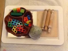 www.victoriaschildcare.co.uk  Numicon, numbers and peppermint play dough invitation to play