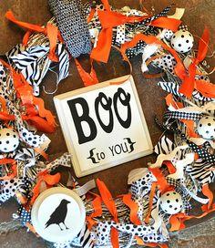 DIY:: Fun Boo Wreath