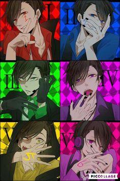 Osomatsu-San X Reader [One-shots] - Matsuno Brothers X Reader. Anime W, Hot Anime Boy, Cute Anime Guys, Anime Demon, Anime Boys, Yandere, Dibujos Anime Chibi, Anime Siblings, Osomatsu San Doujinshi