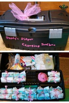Daddy's diaper toolbox... might give this to Jason for his diaper party