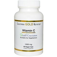 California Gold Nutrition Vitamin C Quali 1000 Mg 60 Veggie Caps -- Continue to the product at the image link. (Note:Amazon affiliate link) #Vitamin