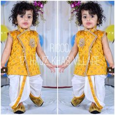 Custom made dhoti kurta for baby boy. Micro fashion  For order/details/customisation contact us on +918800511005 or www.facebook.com/riccoindia or ricco17hkv@gmail.com