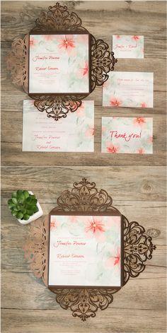 Bohemian Weddinginvitations Boho Style Einladungskarten Zur