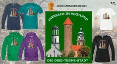 Das Warzeichen der Stadt Auerbach im Vogtland sind seine drei Türme: https://shop.spreadshirt.de/shirtandfashion