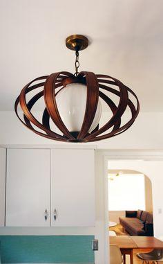 65 Super Ideas For Diy Wood Light Fixture Ceilings Unique Lamps, Unique Lighting, Lighting Design, Kitchen Lighting Over Table, Kitchen Lighting Fixtures, Mid Century Light Fixtures, Mid Century Modern Lighting, Home Accessories, House Styles