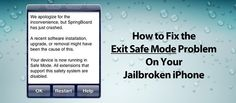 How to Fix Exit Safe Mode Problem on Jailbroken #iPhone