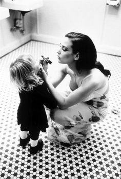 Beautiful moment. Mother and daughter.