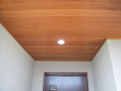 outdoor lighting via under eaves led downlights, no ugly weathering light fixtures on the wall. Can a motion sensor be wired in for the front door area? Outdoor Lighting, Track Lighting, New Home Designs, Downlights, Light Fixtures, New Homes, Exterior, House Design, Ceiling Lights