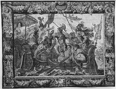 The Battle of Actium from a set of The Story of Antony and Cleopatra, designed by Justus van Egmont (Flemish, Leiden 1601–1674 Antwerp),  Weaving workshop directed by Jan van Leefdael (Brussels, active 1644–60), The Metropolitan Museum of Art