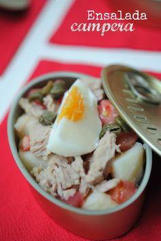 recetas de tía Alia: Ensalada campera [pon una ensalada en tu verano]