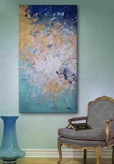 48 x 24 große ursprüngliche abstrakte Malerei auf von studiomosaic, $325.00