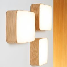 Cube wall lamp for indirect lighting in the hallway. Discover the wooden lamp by designer Mikko Kärkkäinen now in our shop. Light Wall Art, Wall Lights, Wall Lamps, Modern Lighting, Lighting Design, Deco Led, Lampe Applique, Deco Luminaire, Wooden Lamp