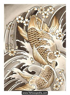 Koi Fish Tattoo Sleeve Designs 04.jpg - http://tattoospedia.com/koi-fish-tattoo-sleeve-designs-04-jpg/